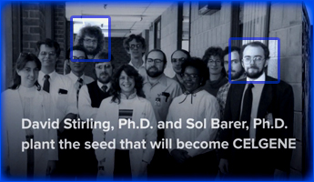 David Stirling, Ph.D. and Sol Barer, Ph.D. plant the seed that will become Celgene.