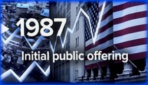 initial public offering, 1987