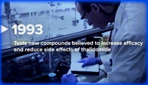 increase efficacy and reduce side effects of thalidomide