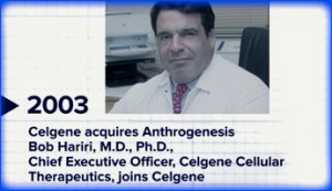 Celgene acquires Anthrogenesis