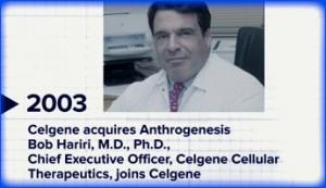 Celgene acquires Anthrogenesis