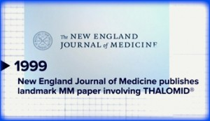 New England Journal of Medicine, Thalomid for MM
