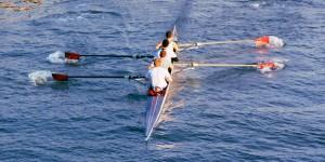 crew team rowing boat