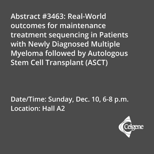 Dec. 10 | Dr. Fonseca presents real-world outcomes in sequencing maintenance treatments in newly diagnosed myeloma
