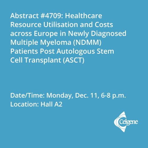 Dec. 11 | Healthcare resource utilisation and costs across Europe in newly diagnosed myeloma after transplant