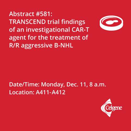 Dec. 11 | Dr. Abramason presents findings of an investigational CAR-T agent in R/R aggressive B-NHL