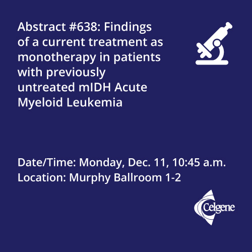 Dec. 11 | Dr. Pollyea presents results of a monotherapy treatment in patients with mIDH AML