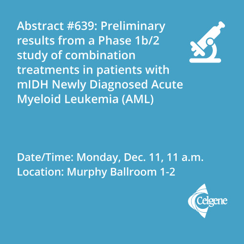 Dec. 11 | Dr. DiNardo presents results from a combination treatment study in mIDH newly diagnosed AML