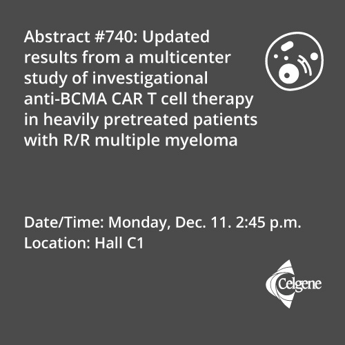 Dec. 11 | Dr. Kochenderfer presents results on an anti-BCMA CAR-T cell therapy agent in R/R myeloma