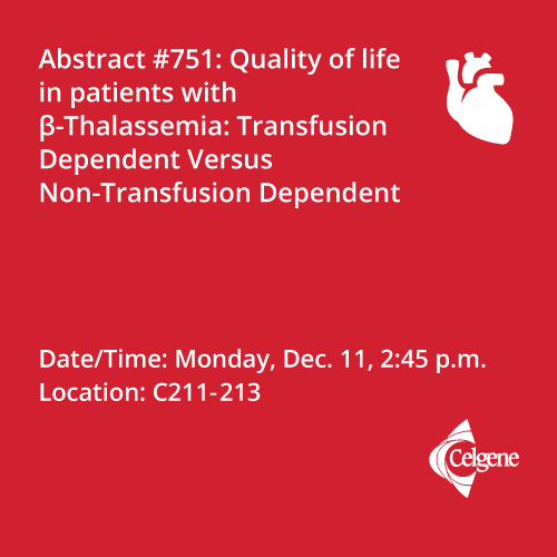 Dec. 11 | Dr. Cappellini presents QoL data in patients with B-Thalassemia