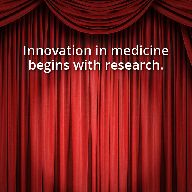 Innovation in medicine begins with research