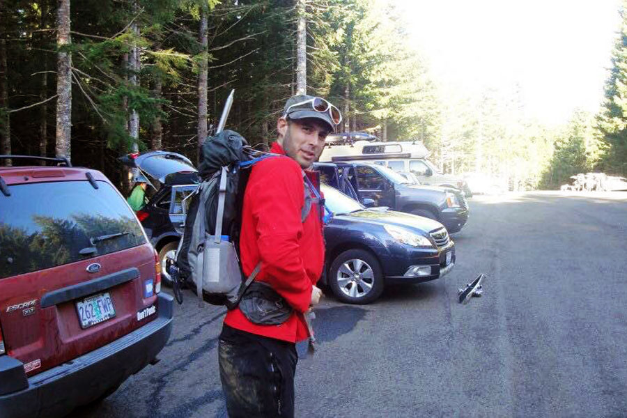 Multiple myeloma patient Alex Clark continues to enjoy camping and being outdoors despite living with a rare disease. Source: Alex Clark