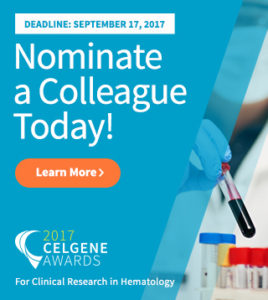2017 Celgene Awards: Nominate a Colleague Today!