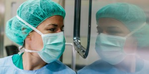 surgeon and reflection