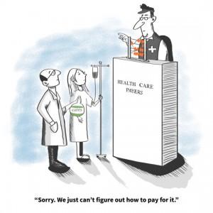 Health Care Political Cartoon: Financing Cures