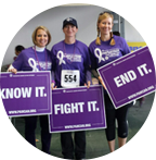 Holding PANCAN signs