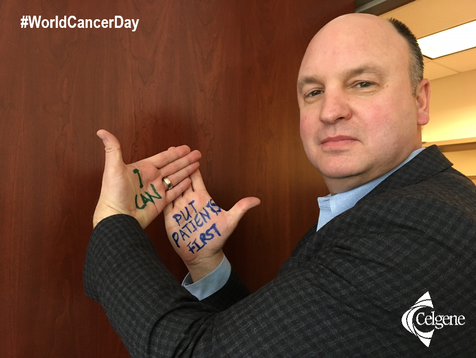 Joel Beetsch, Vice President of Patient Advocacy at Celgene, shares his commitment to put patients first as part of the Talking Hands campaign for World Cancer Day 2016.