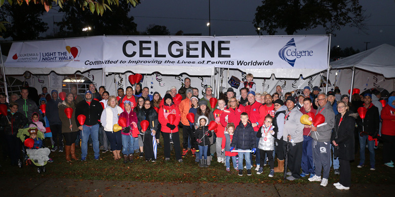 IN 2016, CELGENE EMPLOYEES AND THEIR FAMILIES AND FRIENDS PARTICIPATED AT THE LIGHT THE NIGHT WALK IN SUMMIT, NJ.