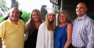 Joe Stivala at daughter's graduation