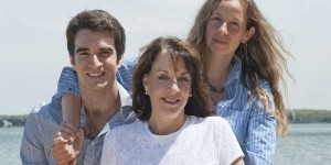 Anne Glauber with her family
