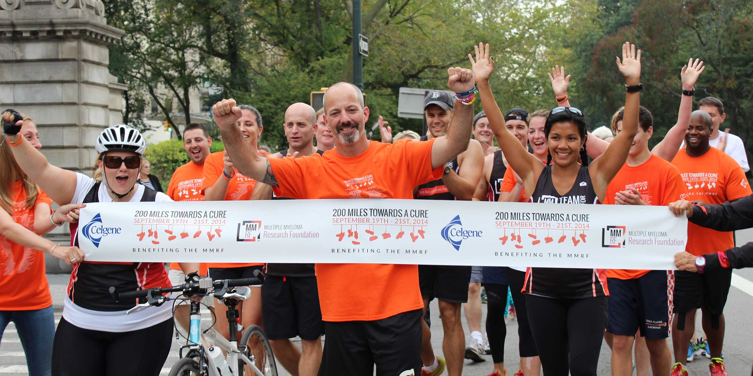 Marathoner, Eric Gelber célébrant