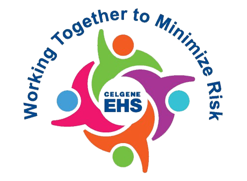 Celgene EHS logo, Working Together to Minimize Risk