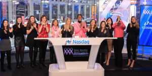 RICKI FAIRLEY RANG THE CLOSING BELL ON FEBRUARY 9, 2017, NASDAQ MARKETSITE IN TIMES SQUARE.