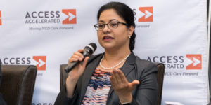 """ZEBA KHAN, VICE PRESIDENT OF CORPORATE RESPONSIBILITY AT CELGENE, PARTICIPATED IN A PANEL DISCUSSION ON """"ENGAGING ACROSS SECTORS AND DISCIPLINES TO ADDRESS NCDS"""" DURING AN ACCESS ACCELERATED-HOSTED EVENT IN NAIROBI, KENYA."""