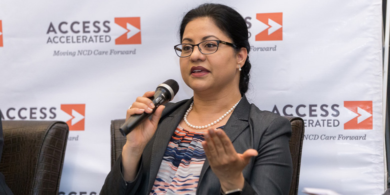 "ZEBA KHAN, VICE PRESIDENT OF CORPORATE RESPONSIBILITY AT CELGENE, PARTICIPATED IN A PANEL DISCUSSION ON ""ENGAGING ACROSS SECTORS AND DISCIPLINES TO ADDRESS NCDS"" DURING AN ACCESS ACCELERATED-HOSTED EVENT IN NAIROBI, KENYA."